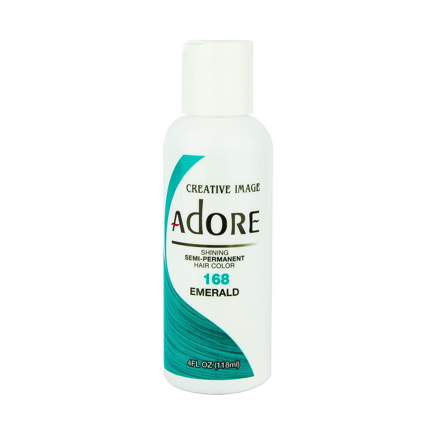 Adore Semi-Permanent Haircolor #168 Emerald 4 Ounce (118ml)