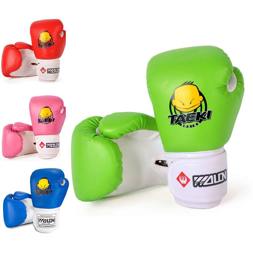51ZMT - Guantes de boxeo para niños (piel sintética, para niños de 5 a 12 años), azul