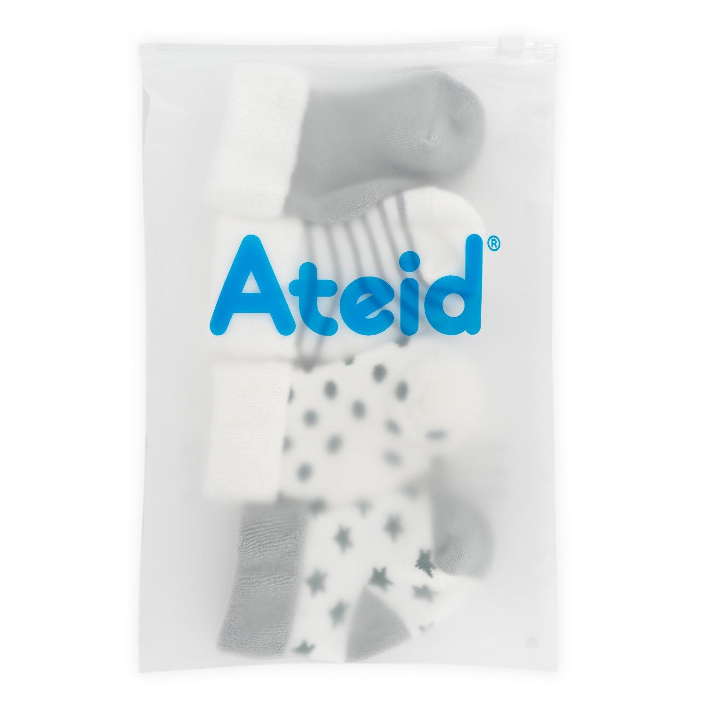 Ateid B/éb/é Tout-petits Cheville Chaussettes /Épaisses Hiver Coton Gris Paquet de 5