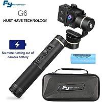 Feiyu G6 Camera Estabilizador de Vídeo 3-Axis Handheld Gimbal para GoPro Hero 6, Hero 5, Hero 4 / 3 ,YI 4K Cámera, Sony RX0, AEE Cámaras de Acción de Tamaño Similar con Wifi + Blue Tooth Pantalla OLED
