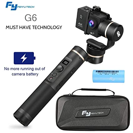 Mbuynow G6 Estabilizador de Vídeo 3-Axis Handheld Gimbal para GoPro Hero 6, Hero 5, Hero 4 / 3 ,YI 4K Cámera, Sony RX0, AEE Cámaras de Acción de ...