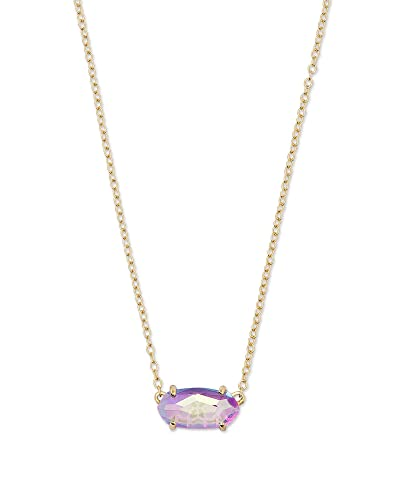 b68bafe4a Amazon.com: Kendra Scott Womens Ever Necklace Gold/Dichroic Glass ...
