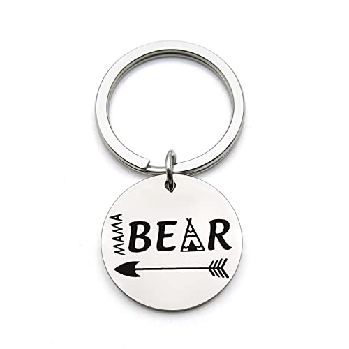 Amazon FEELMEM Mama Bear Keychain Mom Jewelry Mommy To Be New Gift Birthday For Silver