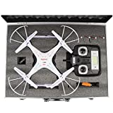 Syma-X5C-1-RC-Quadcopter-Toys-with-Potable-Carrying-Case-HD-camera-explorers-24GHz-6-Axis-Gyro-4CH-Drone-Extra-2-x-600mAh-Battery-1-x-4-in-1-charger-1-x-4G-Micro-SD-Card-4-x-propellers