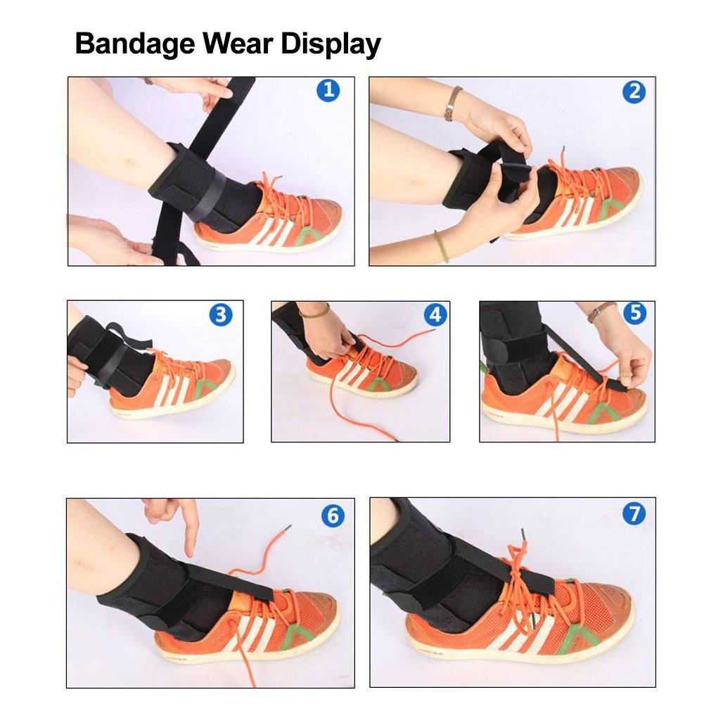 Plantar Fasciitis Splint Protector, One Size Adjustable Plantar Dorsal Support Brace Night Splint Supports Elastic Achilles Tendon Drop Foot Protector Orthosis : Beauty