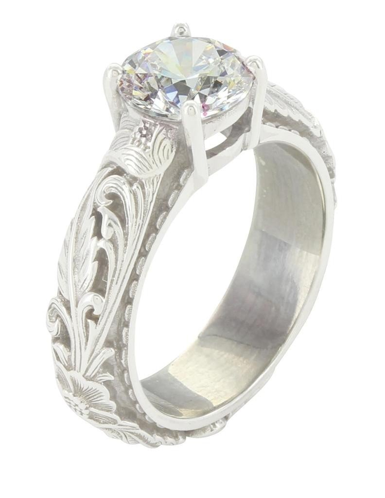 Montana Silversmiths Womens Sterling by Sheridan West 8MM Ring 8 Silver by Montana Silversmiths