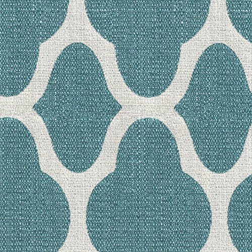 HomePop Parsons Classic Upholstered Accent Dining Chair, Set of 2, Teal and Cream Geometric by HomePop (Image #5)