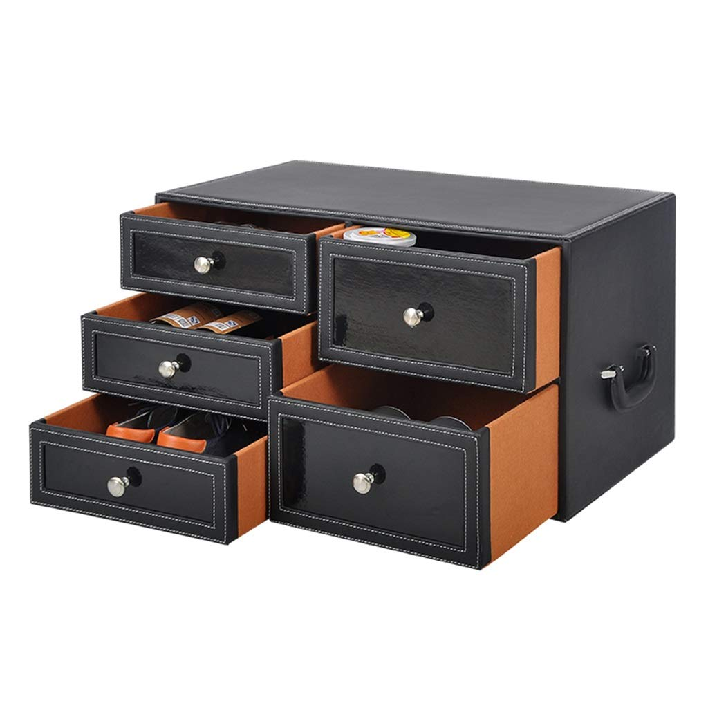 Car Organizer Car Storage Box Car Trunk Storage Box Multi-Function Car Box Multiple Drawers Suitable for All Types of Vehicles (Color : Black, Size : 603534cm)