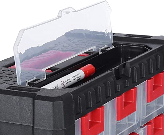 39 lyrlody Cajones de Almacenamiento de Herramientas Estanter/ía de Hardware Gabinete de Piezas Caja Cajonera de Artesan/ías PP Durable