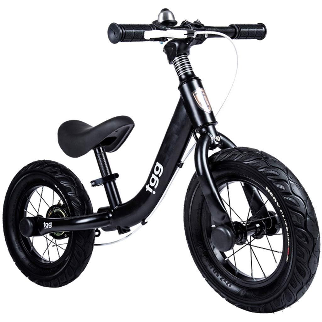 barato y de alta calidad Bicicleta sin sin sin pedales Bici Bicicleta de Equilibrio con Freno de Mano - Acero 32 cm (12 Pulgadas) Neumático de Empuje Bicicleta con Asiento Ajustable, Negro  despacho de tienda