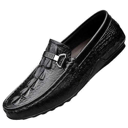 ggudd Hombres Mocasines Estampado Costura A Mano Conducción Zapatos Bajos: Amazon.es: Zapatos y complementos