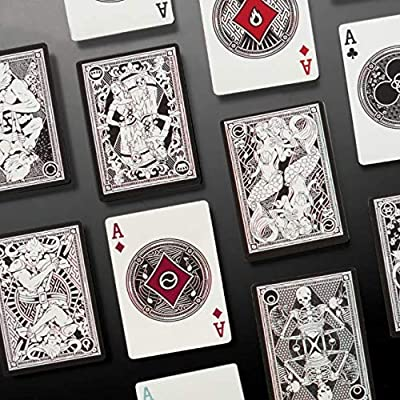 7 Deadly Sins Playing Cards - Seven Premium Themed Decks - Dante's Inferno, The Divine Comedy - Unique, Hand-Illustrated, 300gsm Black Core Stock, Poker Size, Standard Index - Party Games & Cardistry: Sports & Outdoors