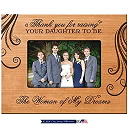 Dayspring Milestones Parent Wedding Gift Thank You for Raising Your Daughter to Be the Woman of My Dreams Wedding Gift for Parents 9.75 Inches Long X 7.75 Inches High (Cherry)