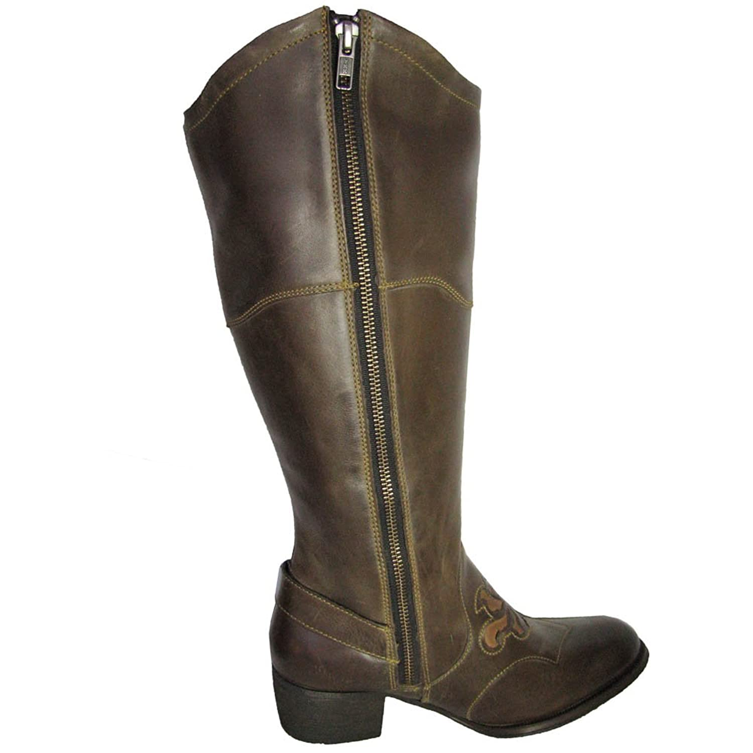 Amazon.com | Born Women's Montana Brown/Camel Full Grain Boot 7.5 M (B) |  Knee-High