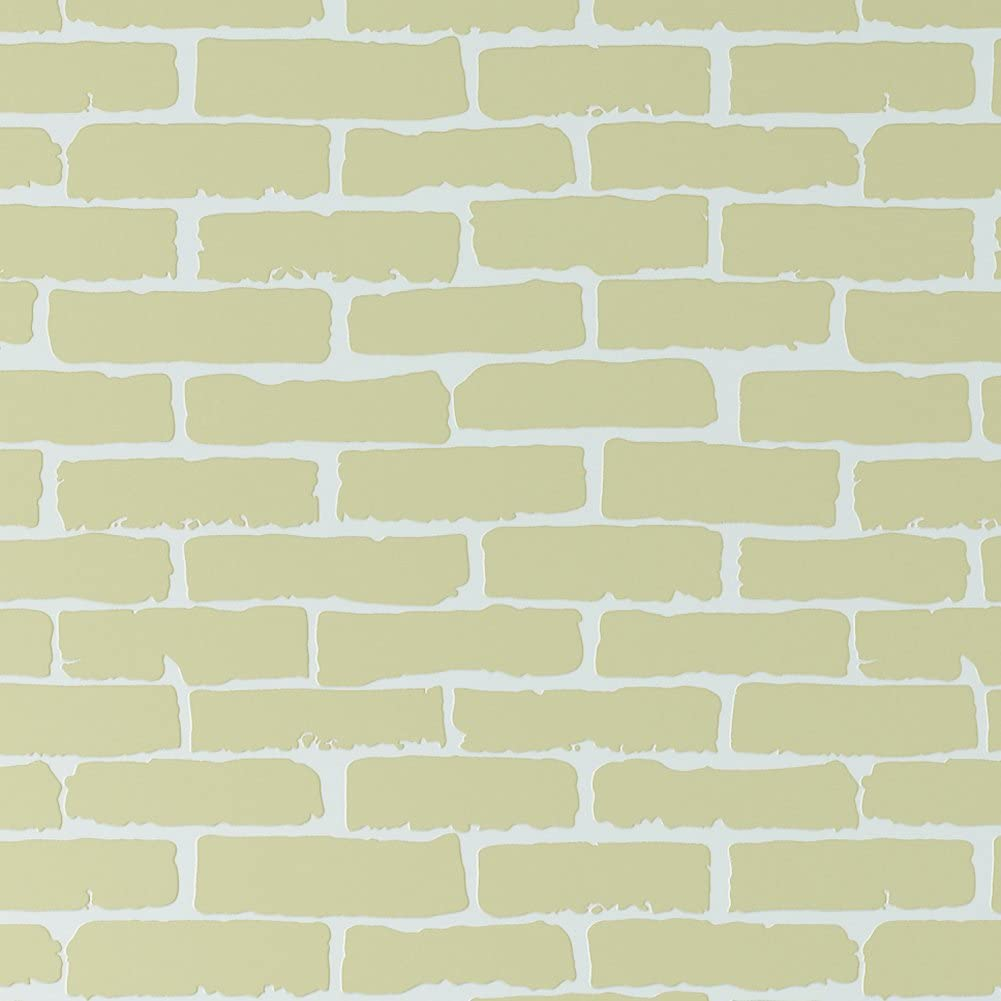 SICOHOME Gold Brick Peel and Stick Wallpaper