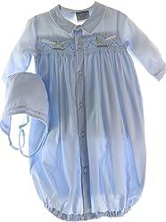 ab3b505065d3 Newborn Boy Gown   Bonnet Set Smocked Rocking Horses