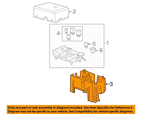 amazon com: genuine gm 22817835 engine wiring harness fuse block bracket:  automotive