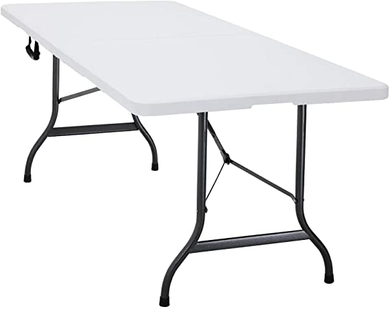 Casaria Mesa plegable multiuso 220x70x72cm Blanca rectangular portátil ligera para jardín camping eventos barbacoas: Amazon.es: Hogar