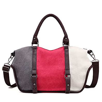 2dd64e2e10 Canvas Women Bag Casual Women Messenger Bags Vintage Patchwork Women  Crossbody Bags Big Woman Shoulder Bags