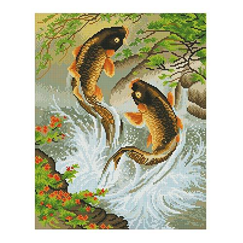 Diamond Mosaic - Full Diamond Embroidery Animal Diy Painting Fish Jump 3d Drill Mosaic Icon Paste Crafts Needlework - Unicorn Art Rhinestone Sword Kit Tool Toy Tiles Painting