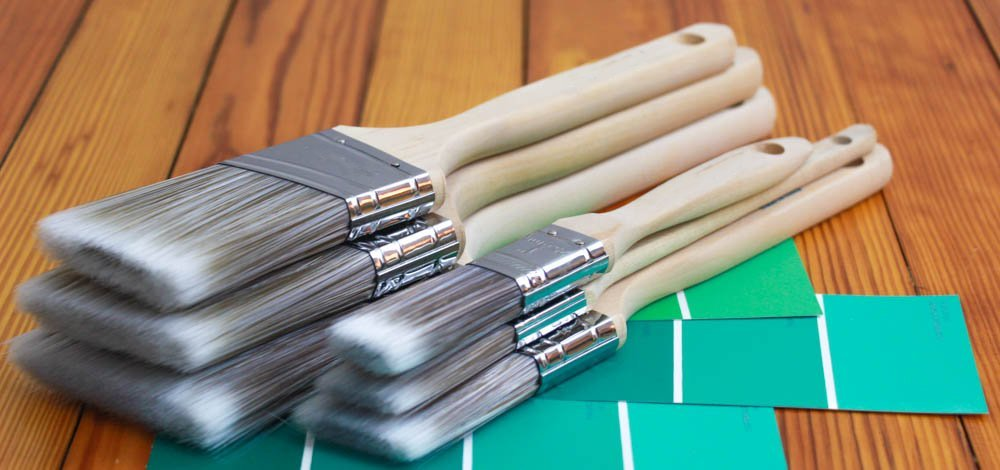Pro Grade - Paint Brushes - 12Ea 2.5'' Angle Brushes by Pro-Grade