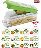 MIRAZ By Rock Group Of Companies Plastic Vegetable Cutter and Chopper with Poly-Carbonate Body (Green)