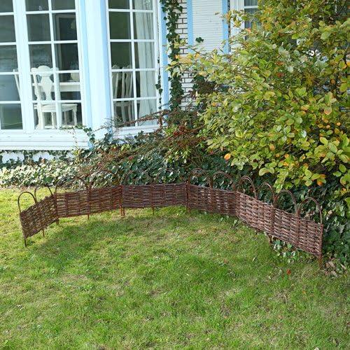 Para Bancal Valla de jardín (Madera delimitar Valla de mimbre Jardín: Amazon.es: Jardín