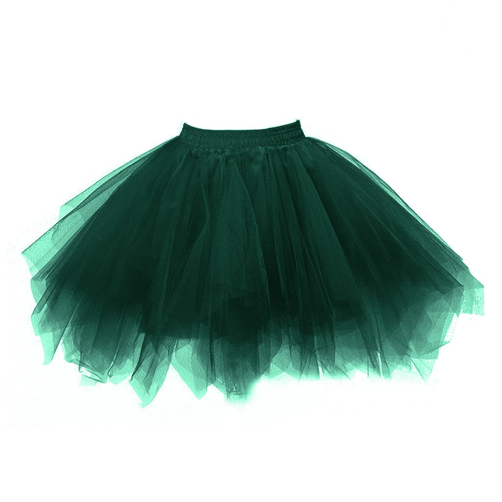 Dark Green Topdress Women's 1950s Vintage Tutu Petticoat Ballet Bubble Skirt (26 colors)