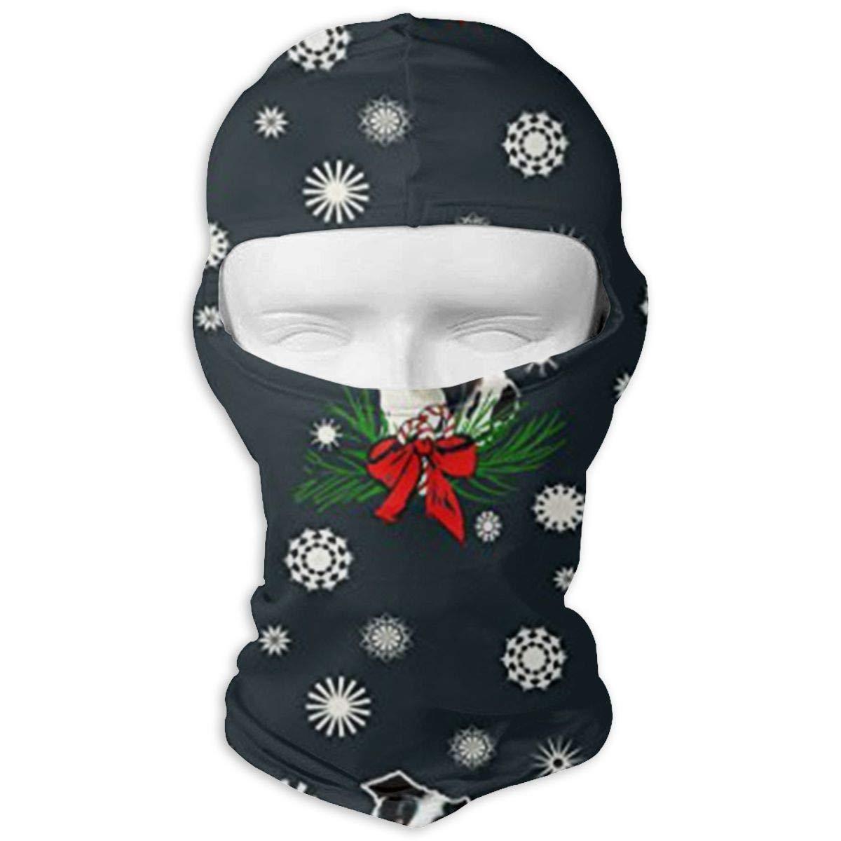 LaoJi Border Collie Christmas Winter Ski Mask Balaclava Hood Wind-Resistant Face Mask
