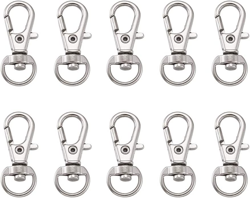 Craftdady 20Pcs Antique Bronze Nickle Free Metal Lanyard Snap Hook Swivel Clasps 35x13mm Alloy Tigger Clips Lobster Clasps