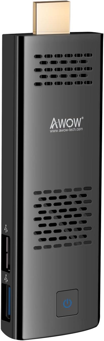 4GB 64GB Mini PC Stick by AWOW Windows 10 Pro Computer Stick Mini Computer Intel Atom x5-Z8350/Dual Band WiFi/HD 4K/Bluetooth/USB3.0/HDMI/Built-in Fan