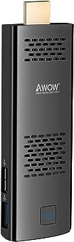 AWOW Windows 10 Pro Computer 4GB 64GB Mini PC Stick