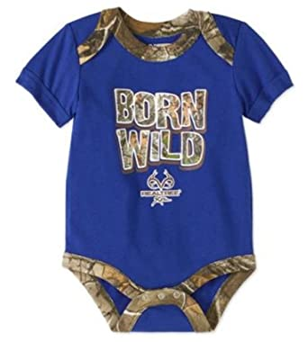 0364900c97f40 Realtree Assorted Baby Boys & Girls Bodysuit Dress Up Outfit (Newborn, Blue  - Born