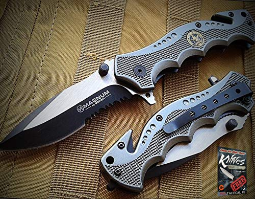 New 1pc Boker Magnum Hero Special Weapons And Tactics Rescue Folding sharp Blade Knife 4.5