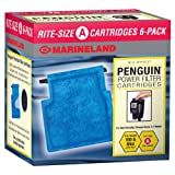 Marineland Penguin Power Filter Cartridge Rite-Size A, 6 Count, Replacement Cartridge For Aquarium Filtration