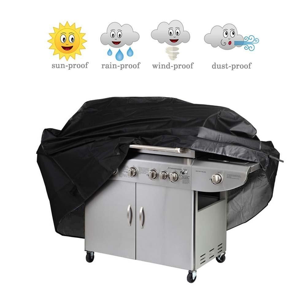 Icesnail BBQ Grillen Abdeckung Wasserdicht Grillabdeckung Cover Gasgrill Schutzh/ülle 145X61X117CM Schwarz