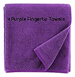 Show Car Guys 4 Pack 11'' x18'' Purple Fingertip Towels 100% Cotton- Terry-Velour