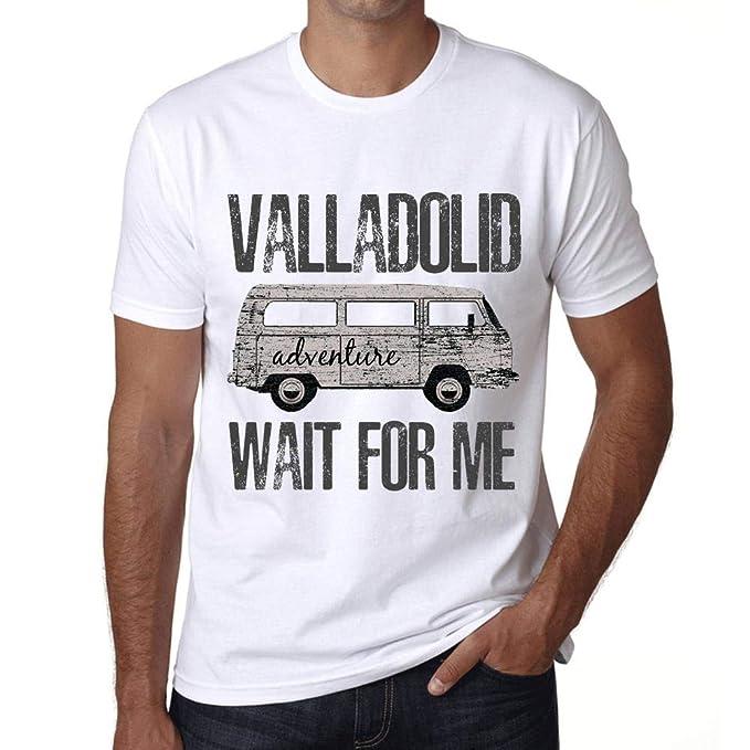 One in the City Hombre Camiseta Vintage T-Shirt Gráfico Valladolid Wait For  Me Blanco  Amazon.es  Ropa y accesorios 8e4d0724d2587