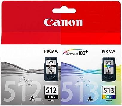 1x Canon Tintenpatrone Doppelpack Pack Enthält 1 X Schwarz Pg 512 1x Farbig Cl513 Bürobedarf Schreibwaren