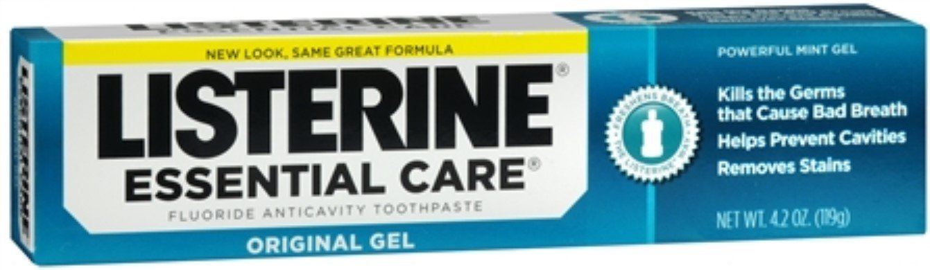 PACK OF 12 - Listerine Essential Care Powerful Mint Original Gel Fluoride Toothpaste, Oral Care, 4.2 Oz