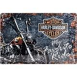Nostalgic-Art Harley-Davidson My favorite Ride - Targa in metallo, 20 x 30 cm