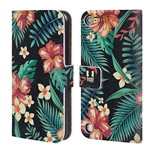 Head Case Bloom Tropical Prints Cover telefono a portafoglio in pelle per Apple iPod Touch 5G 5th Gen / 6G 6th Gen
