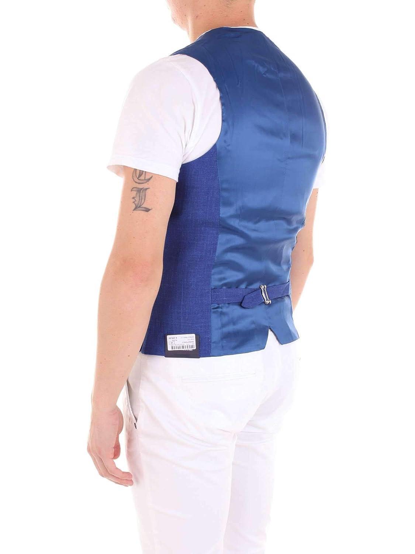SEBASTIANO CODA Mens 144382770BLUETTE Blue Wool Vest