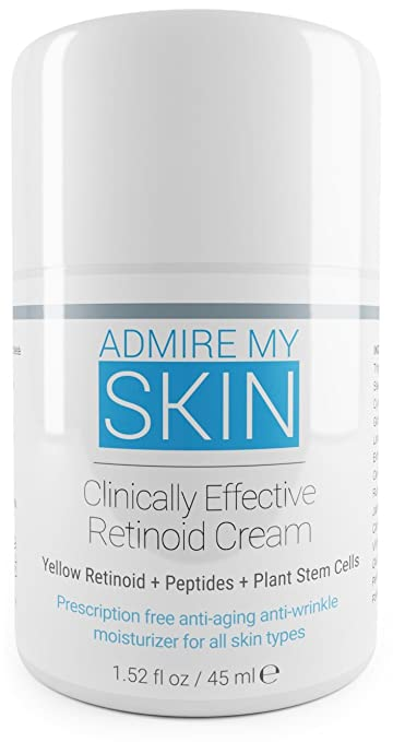 Retinoid Cream- Compare To Tretinoin, Retin A Cream For Potent Acne Treatment & Anti Aging Moisturizer - Contains Retinoic Acid, Peptides & Plant Stem Cells.