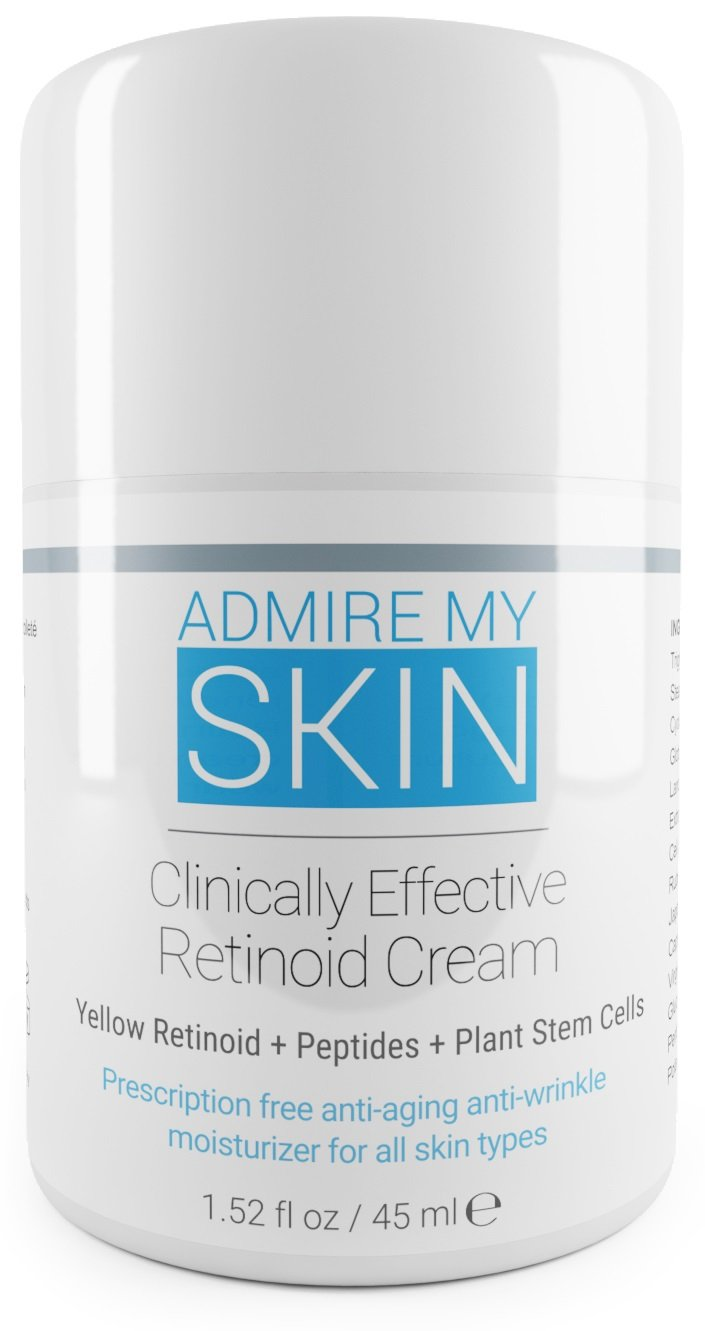 Admire My Skin Retinoid Cream- Compare To Tretinoin, Retin A Cream & Retin A Micro Gel, - Contains Retinoic Acid For Potent Anti Aging & Acne Prone Skin