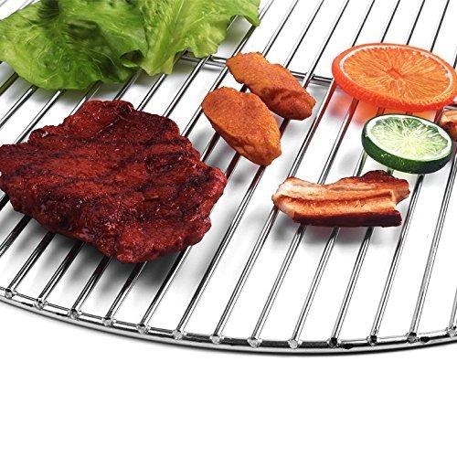 44,5/cm rond anneau 6/mm ext/érieur Acier inoxydable /& entre Tige 4/mm aflage Baguettes Grille Barbecue boule /également Weber 47