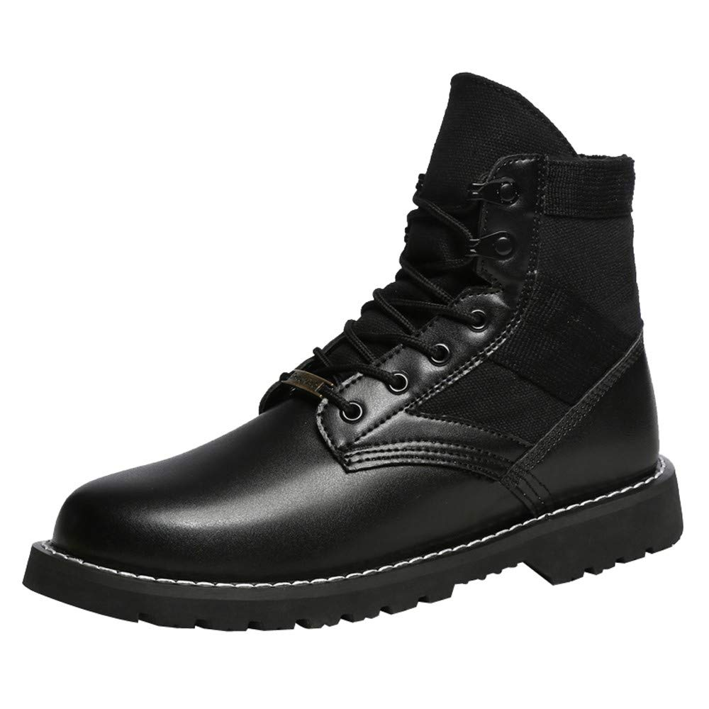 Men's Shoes HOSOME Men Outdoor Mens Women Ankle Boots Young Casual Boots Wearable Fashion Shoes Gift for Boyfriend Black