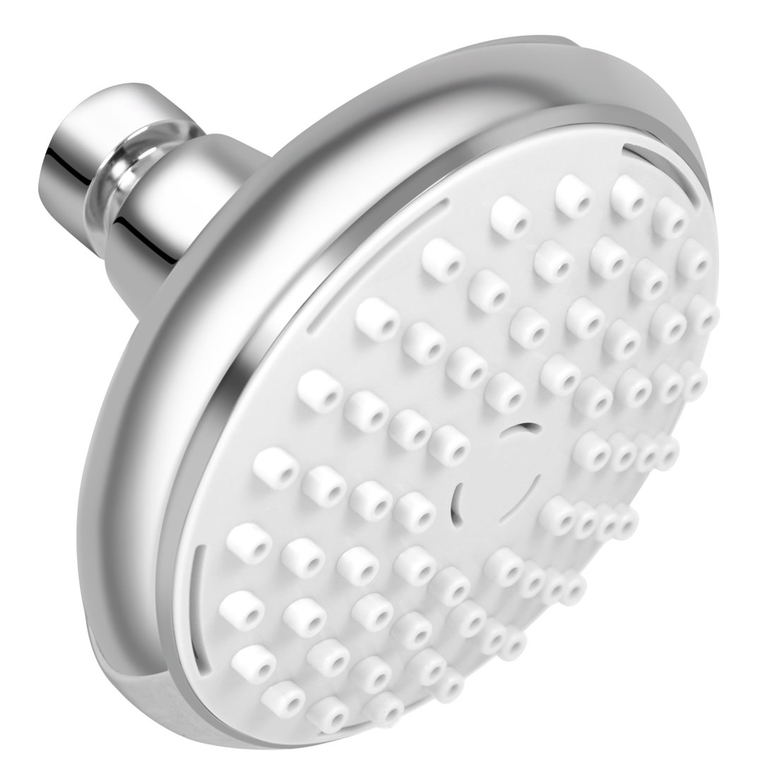 Rain Shower Head - Removable Water Restrictor - High Pressure Air-Injection Oxygenics Rainfall-Adjustable Swivel Ball Joint
