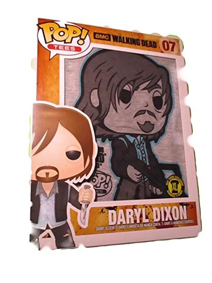 Funko Unisex-Adults POP Tees: The Walking Dead-Daryl with Crossbow, Gray