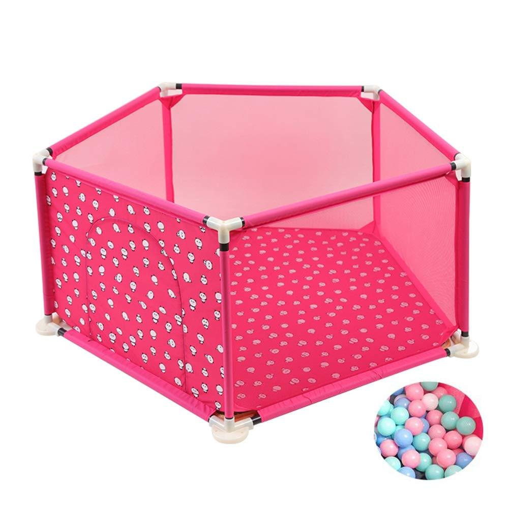 玄関先迄納品 ベビーサークル Pink 赤ちゃんの遊び場(ボール付) :、5パネル乳幼児用ゲームフェンス、子供用世帯遊び場 - ピンク、青 ピンク、青 (色 : Pink) Pink B07J4477NZ, 爆買い!:2b275538 --- a0267596.xsph.ru